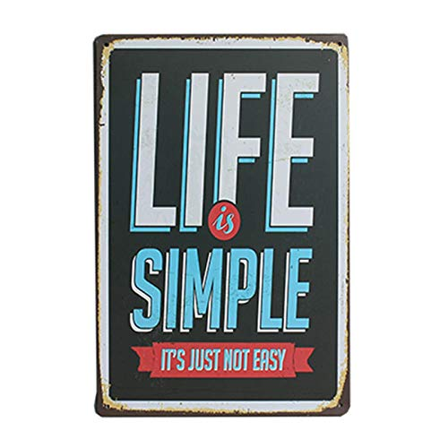 Family Rules Tin Sign Vintage Art Metal Plate Pub Bar Cafe Wall Poster Retro Home Decor 7.8x11.8inch 20