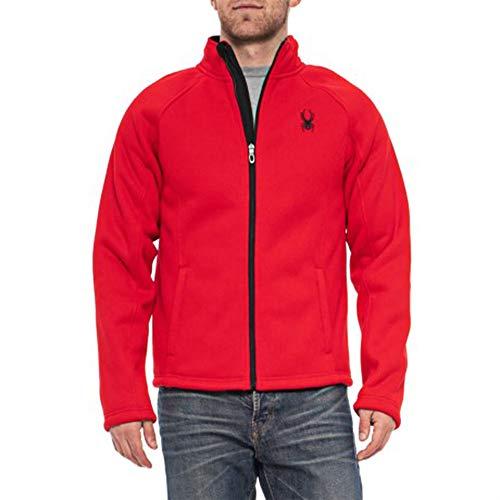 Spyder Men's Stellar Jacket Sherpa Lined Bonded Fleece (Racing Red, X-Large)