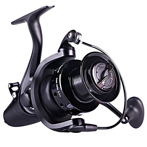 Sougayilang Spinning Fishing Reel,12+1BB Metal Body Smooth, Carp Spinning Reels, for Saltwater and Freshwater Fishing-BE6000