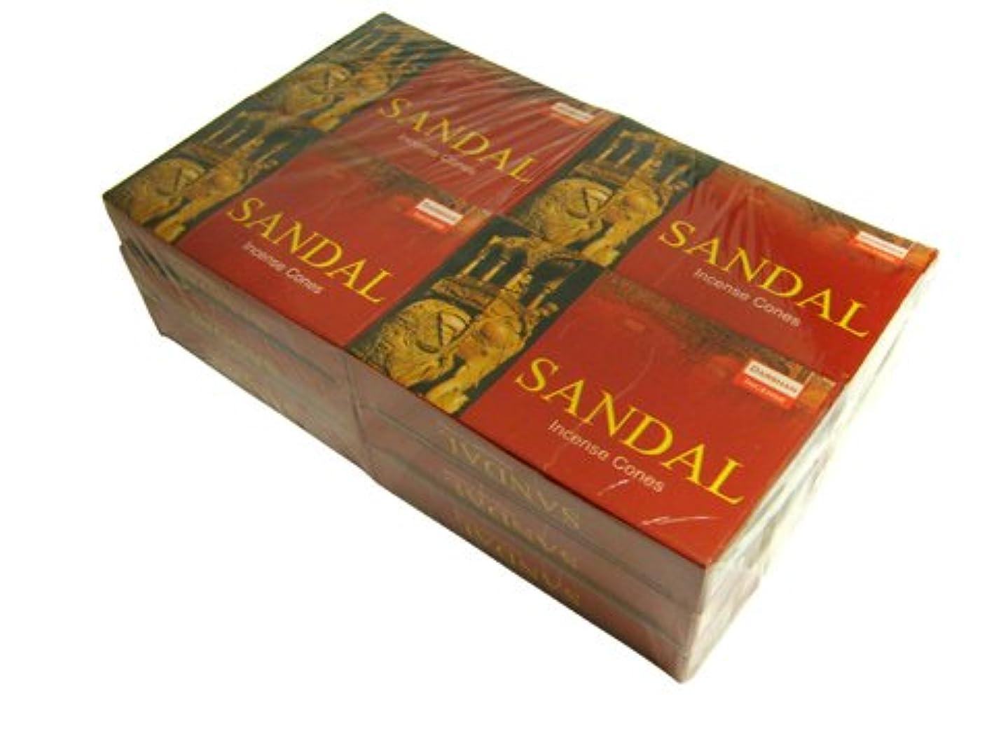 インタビュー商品指DARSHAN(ダルシャン) サンダル香 コーンタイプ SANDAL CORN 12箱セット