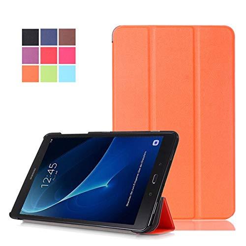 GHC Pad Fundas & Covers For Samsung Galaxy Tab A 10.1 2016 SM-T580 T585, Magnetic Tablet Slim Funda for Samsung Galaxy A6 10.1 2018 (Color : Orange)