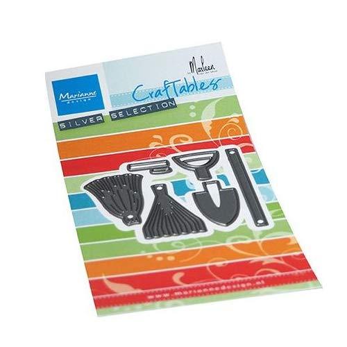 Marianne Design Craftables, Attrezzi da Giardino di Marleen, Fustella da Taglio ed Embossing per Progetti Creativi, Argento, Unica, 6 unità