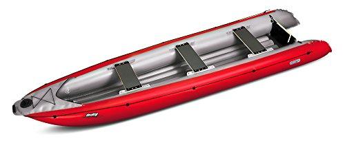 AUF ANFRAGE -SCHLAUCHBOOTE - GUMOTEX - Ruby - XL - motorisierbares Schlauchkanu, für 3 Personen + Gepäck - WILDWASSER KAJAK - Farbe ROT -
