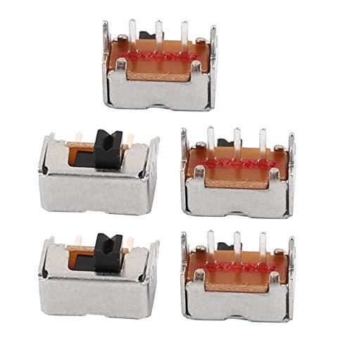 ZZOZOSEP - Interruptor Deslizante (5 Unidades, 8 x 4 x 4 mm, 2 Posiciones, SPDT)