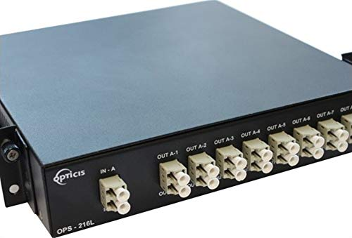 Lowest Price! Opticis OPS-216L Rack Mountable 2x16 (1x8, 2EA) LC Optical Splitter Fits with DVFX-110...