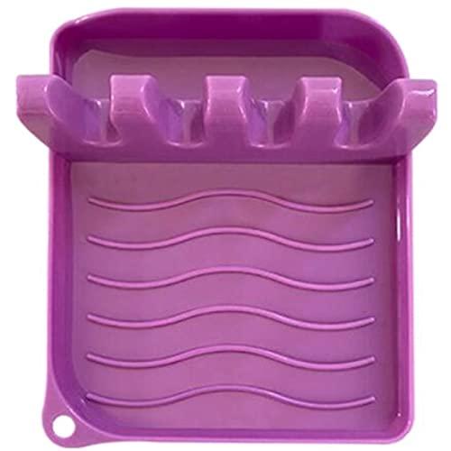 XKMY Palillos cubiertos soporte cuchara soporte de plástico cucharón soporte pala resto para cubierta de ollas, cubiertos y espátulas, accesorios de cocina (color: 02)