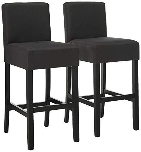 Christopher Knight Home Portman Fabric Barstools, 2-Pcs Set, Dark Charcoal