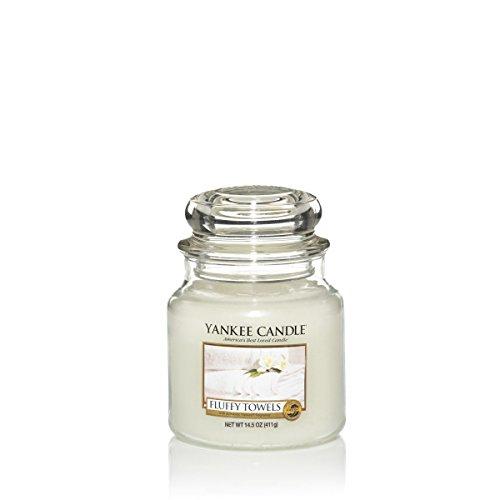 Yankee Candle Candela profumata in giara media | Soffici asciugamani | Durata Fino a 75 Ore