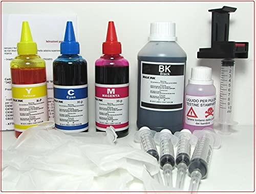 600 ml Kit recarga cartuchos HP Inkjet. HP 336 Negro 342 Color Refill Clip