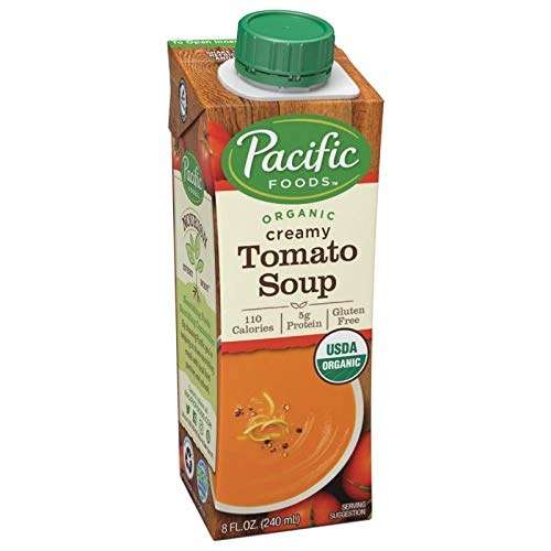 Pacific Foods Organic Creamy Tomato Soup, 8-Ounce Cartons, 12-Pack