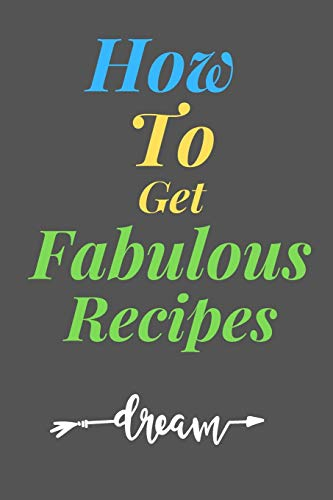 Lowest Price! How To Get  Fabulous RECIPES: All Purpose  Recipes  6x9 Blank Lined Formated Cooking ...