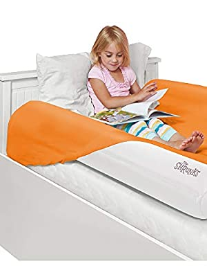 The Shrunks Inflatable Kids Bed Rails for Toddlers Portable Safety Guard Side Bumpers 2 Pack for Children and Adult Beds Great Home or Travel. Have Your Child Sleep Safe and Comfortable by The Shrunks
