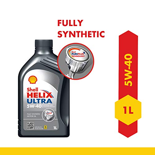 Shell Helix Ultra 550041108 5W-40 API SN Fully Synthetic Car Engine Oil (1 L)