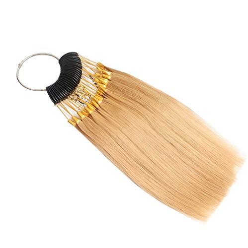 RemeeHi Lot de 30 mèches de cheveux pour tester la couleur des cheveux avec boucles dorées - Or platine 9°