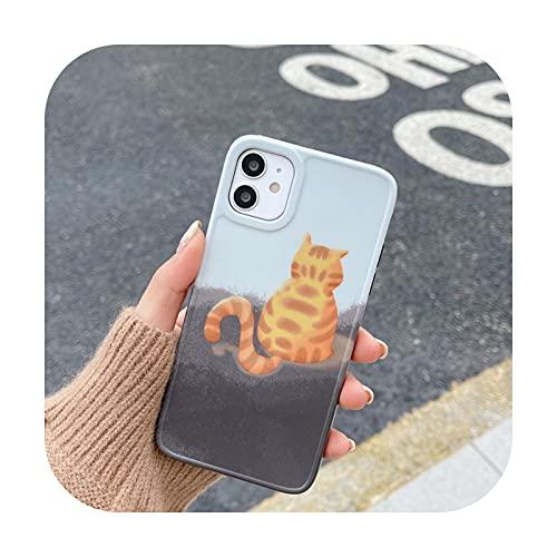 Funda de teléfono para iPhone 12 Mini 12 11 Pro Max 7 8 Plus SE 2020 X XR XSMax Elegante Arte Abstracto Suave IMD Contraportada Full Phone Case-T1-para iPhone 12