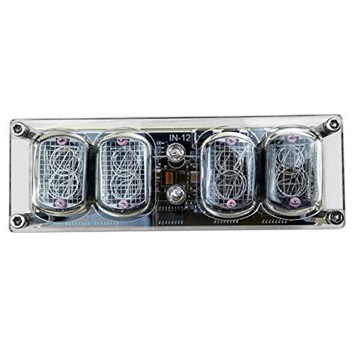 Sylvialuca IN-12 Glührohruhr 4-Bit IN12 Glührohruhr Siebenfarbige RGB-LED DS3231 Nixie-Uhr IN-12B Lichtuhr