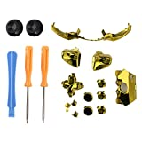 xbox 360 controller gold shell - Diyeeni Replacement Buttons & Tools Kit for Xbox 360 Joystick, Xbox 360 Controller LB RB LT RT Buttons Screwdriver Set(Gold)