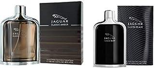 Set Of 2 Pieces Classic Amber by Jaguar for Men Eau de Toilette 100ml With Classic Black by Jaguar for Men Eau de Toilette...