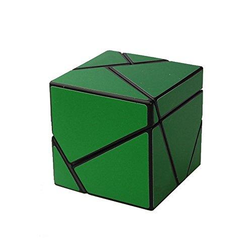 Wings of wind - Ghost Zauberwürfel Black Body DIY Neuer Aufkleber Speed Magic Cube, 2x2x2 Ghost Puzzle Cube (Grün)