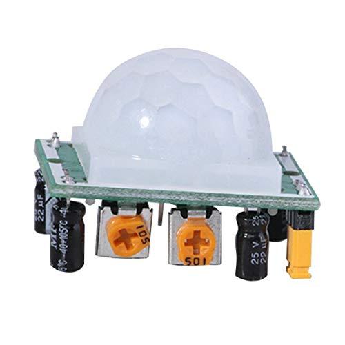 zhouweiwei HC-SR501 Ajustar piroeléctrico IR PIR Infrarrojo Reflectante Movimiento Movimiento Cuerpo Sensor Módulo Junta Detección Humana para Arduino DIY