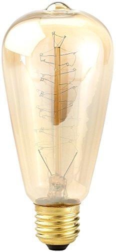 Luminea Schmuck Glühbirne: Vintage-Schmucklampe, konisch, mit spiralförmigem Glühdraht (Glühdraht Birne)