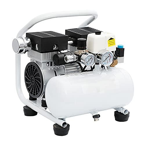 WUK Portable Air Compressor 5L Small Home Oil-Free Silent Air Pump 380/550/750 W Blowing Dust Paint Spray Air Compressor Dual Pressure Gauge (8bar)