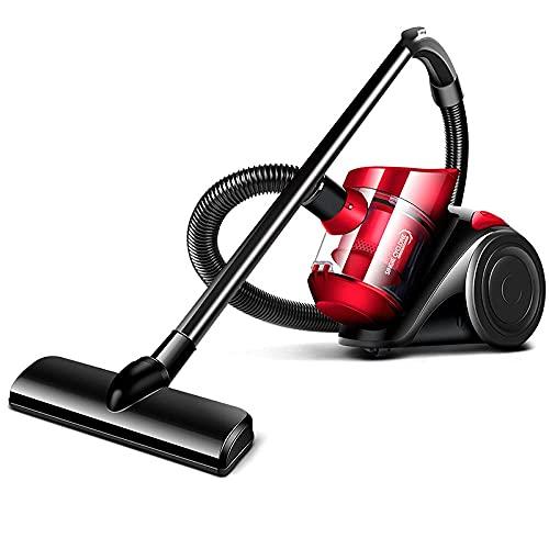 Cilindro sin Bolsa, Ligero, Compacto, 1.5L 1200W de Alta Potencia, múltiples filtraciones, Eliminar ácaros, Adecuado para alfombras de hardfloor, edición Red_Standard WDH666