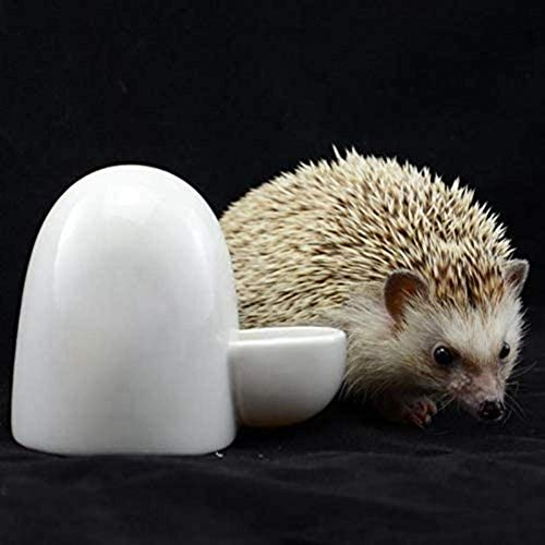 Haustier Wasserspender Für Kleine Haustiere, Automatische Keramik Wasserflasche Vogelhäuschen/Igel/Hamster Sicher Und Langlebig