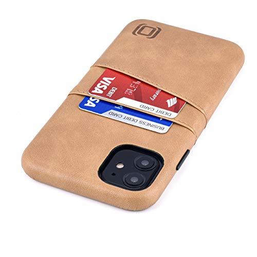 Dockem Exec M2 Funda Cartera para iPhone 11 (6.1): Funda Tarjetero Slim con Placa de Metal Integrada para Soporte Magnético: Serie M [Caqui]
