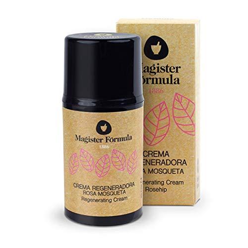 Crema Rosa Mosqueta 50 ml | Extracto de Aceite 100% puro | Hidratante y Regeneradora Facial | Antiedad, Antiarrugas, Antimanchas | Mujer y Hombre | Día y Noche | Magister Formula