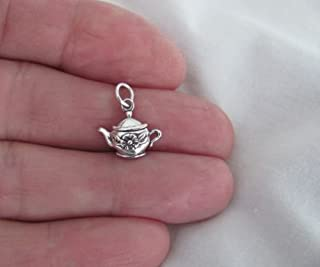 Sterling Silver teapot small charm.Jewelry Making Supply Charm, Bracelets and More by Wholesale Charms