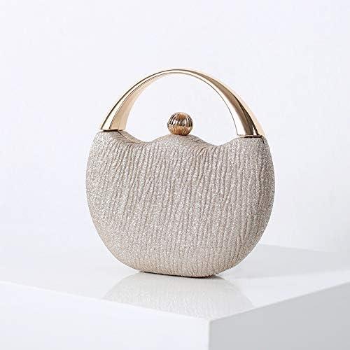 wbwlfjtlll Women's Wedding Clutch Evening Bag Small Female Handbag Luxury Wedding Bridal Purse Chain Party Shoulder Bag (Color : Champagne)