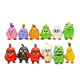 12 Piezas Figura de Anime de Angry Bird Red The Blues Chuck Birds figuritas Mini Modelo de Figuras de Juguete de acción