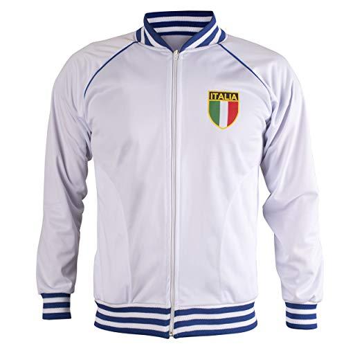 JL Sport Italien/Italia Jacke Retro Fußball Anzug Zip Jacke - S