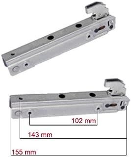 Easyricambi Cerniere e portarullini per porta forno pesante GLEM GAS WEGA 2 2 pezzi
