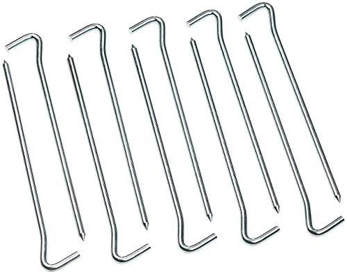 Semptec Urban Survival Technology Zeltheringe: 10er-Set XL-Stahl-Zelthaken für alle Bodenarten, 21 cm lang, 6 mm dick (Hering)