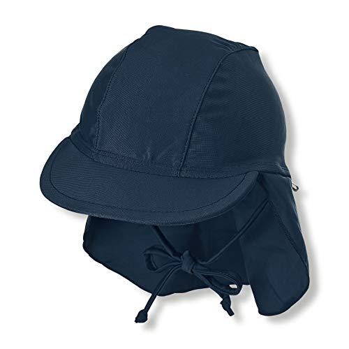Sterntaler Kinder Schirmmütze mit Nackenschutz, UV-Schutz 50+, Alter: 5 - 6 Monate, Größe: 43, Farbe: Marine