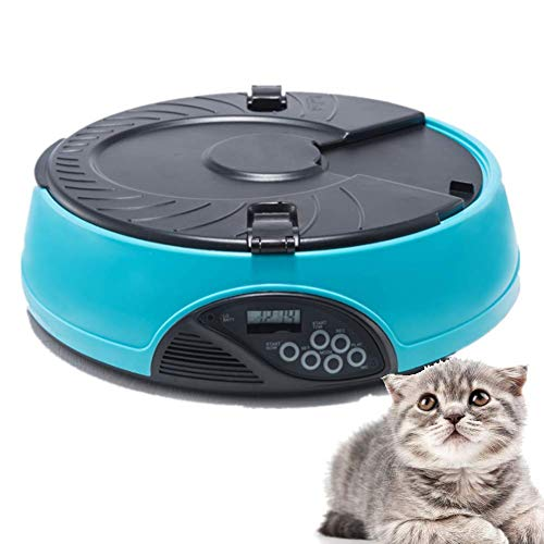 AOK DOOR Automatic Cat Feeder Automatic Dog Feeder Dog Food Dispenser Cat Feeder Automatic with Timer Smart Pet Feeder Pet Feeder Wet Food Pet Animals Feeder Blue