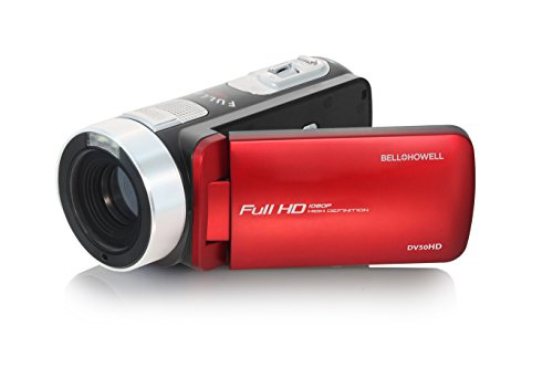 "Bell+Howell 1080p Full HD Video Camcorder with 20.0 MP Still Image Resolution & 3"" Touch Screen LCD, Red (DV50HD-R)"