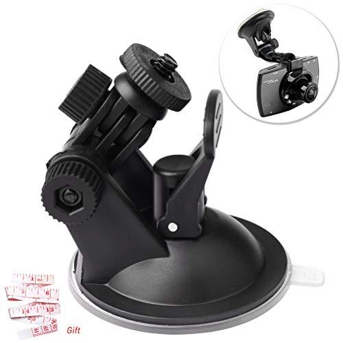 LiDing - Soporte para cámara de salpicadero de coche, con ventosa para la mayoría de cámaras de salpicadero y GPS