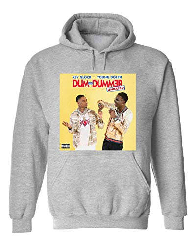 George Graphics Key Glock Young Dolph Dum and Dummer Unisex Kapuzenpullover Sweat Hoodie Small