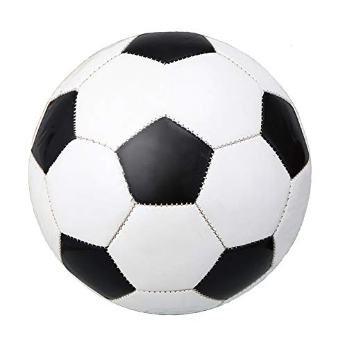 CZ-XING Highliving-Fußball, professionelles Club-Team, Indoor- und Outdoor-Spielball, Größe 4/5, klassisches Schwarz und Weiß, für Kinder