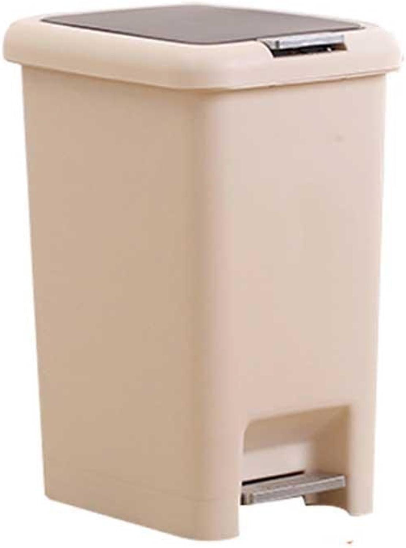 MIAO 10L Handpresse Fußpedal Dual Use Bedeckt Mit Fässern Kunststoff Mülleimer B076KPL5VQ   Economy