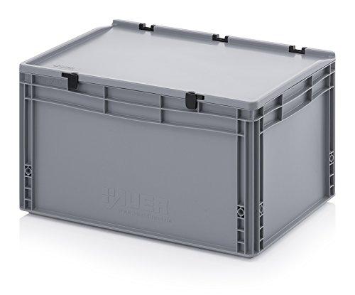 Eurobehälter-Eurobox 60 x 40 x 33,5 cm mit Scharnierdeckel inkl. gratis Zollstock