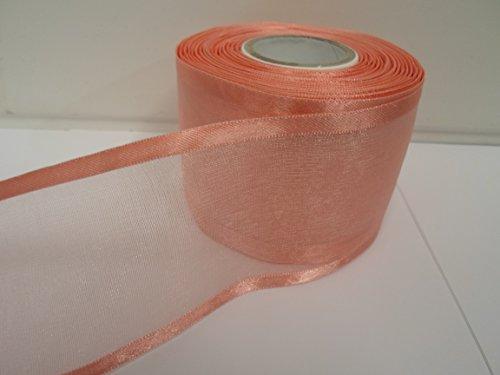 Beautiful Ribbon 1 Rouleau de 70 mm 7cm avivés Ruban Organza x 25 mètres Rose Clair Double Face Satin Edge Pure 70mm
