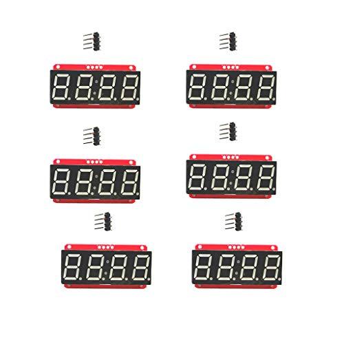 SM SunniMix 6 Stück 0,56 ''4 Stellig 7 Segment LED Display Modul Ht16k33 12C Für Arduino