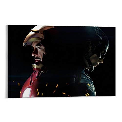 Dragon Vines - Póster de superhéroe de Capitán América, guerra civil, Iron Man Spiderman Black Widow (20 x 30 cm)