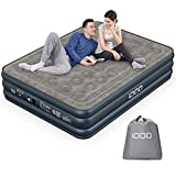 iDOO Air Mattress, Inflatable Airbed with Built-in Pump, 3 Mins Quick Self-Inflation/Deflation, Comfortable Top Surface Blow Up Bed for Home Portable Camping Travel, 80x60x18in, 650lb MAX (Queen)