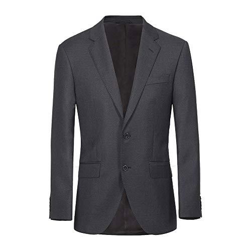 Hackett London LP Plain Wool JKT Chaqueta, 987gris Oscuro, 46W x 34L para Hombre