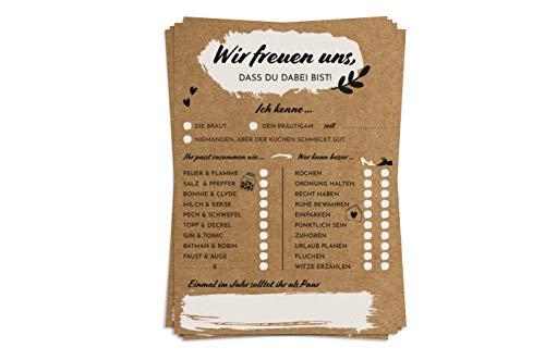 Hochzeitsspiel Karton Version II - 52 Vintage Postkarten mit Fragen - Hochzeitsgeschenk und kreative Alternative zum Gästebuch - Ein Jahr lang jede Woche eine Karte - von Sophies Kartenwelt